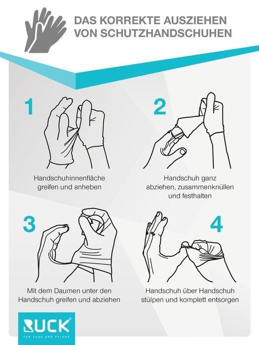 ruck nitril handschuhe schwarz 1 st s nagelmodellage hygiene handschuhe podologie. Black Bedroom Furniture Sets. Home Design Ideas